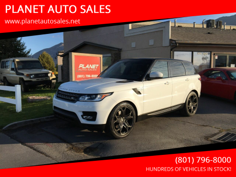 2016 Land Rover Range Rover Sport for sale at PLANET AUTO SALES in Lindon UT