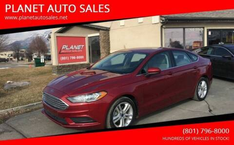 2018 Ford Fusion Hybrid for sale at PLANET AUTO SALES in Lindon UT