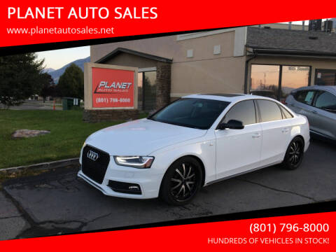 2016 Audi A4 for sale at PLANET AUTO SALES in Lindon UT