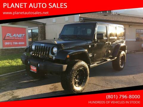 2017 Jeep Wrangler Unlimited for sale at PLANET AUTO SALES in Lindon UT