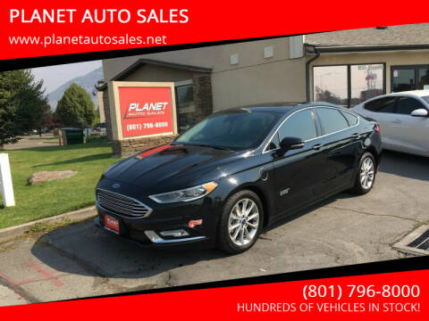 2017 Ford Fusion Energi for sale at PLANET AUTO SALES in Lindon UT
