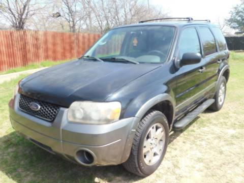 2005 Ford Escape for sale at El Jasho Motors in Grand Prairie TX