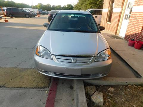 2003 Honda Civic for sale at El Jasho Motors in Grand Prairie TX