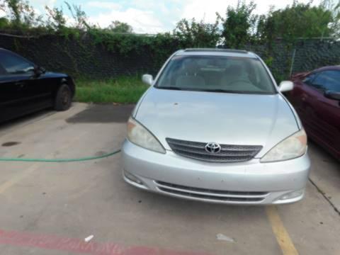 2004 Toyota Camry for sale at El Jasho Motors in Grand Prairie TX