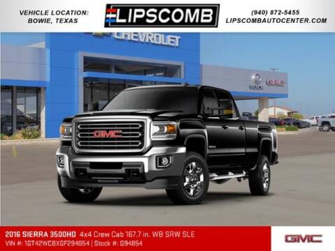 2016 GMC Sierra 3500HD for sale at Lipscomb Auto Center in Bowie TX