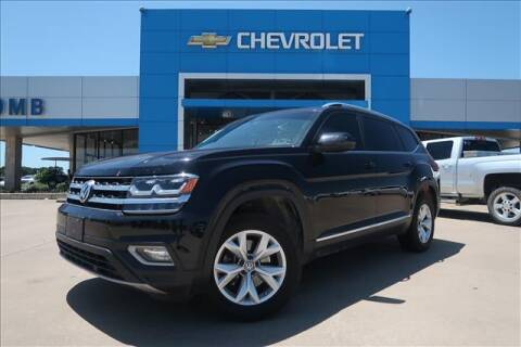 2018 Volkswagen Atlas for sale at Lipscomb Auto Center in Bowie TX