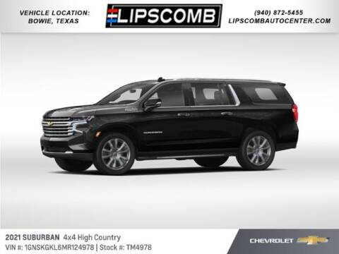 2021 Chevrolet Suburban for sale at Lipscomb Auto Center in Bowie TX