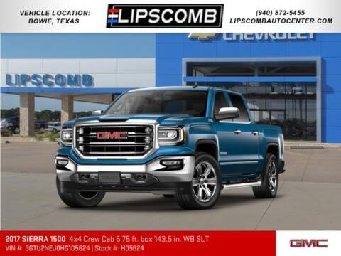 2017 GMC Sierra 1500 for sale at Lipscomb Auto Center in Bowie TX