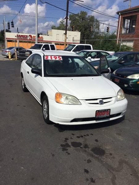 2000 Honda Civic For Sale At Rodu0027s Automotive In Cincinnati OH