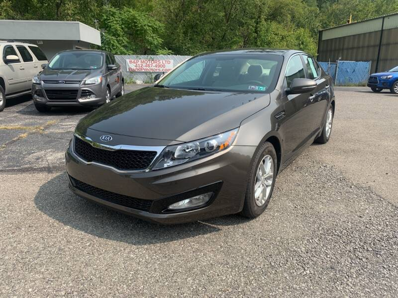 2012 Kia Optima for sale at B & P Motors LTD in Glenshaw PA