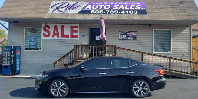 2016 Nissan Maxima for sale at Ritz Auto Sales, LLC in Paintsville KY