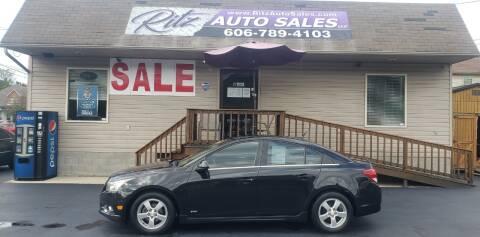 2012 Chevrolet Cruze for sale at Ritz Auto Sales, LLC in Paintsville KY
