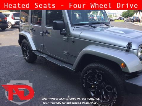 2018 Jeep Wrangler Unlimited for sale in Elverson, PA