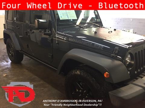 2017 Jeep Wrangler Unlimited for sale in Elverson, PA