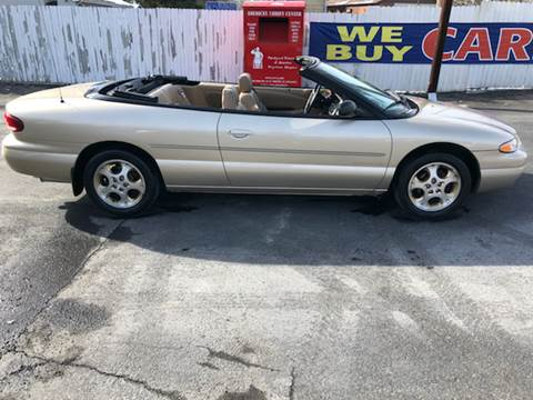 1999 Chrysler Sebring for sale at INTERNATIONAL AUTO SALES LLC in Latrobe PA