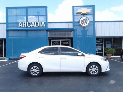 2016 Toyota Corolla for sale in Arcadia, FL