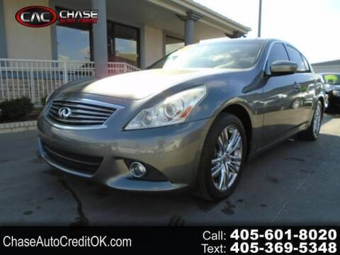 2012 Infiniti G25 Sedan for sale at Chase Auto Credit in Oklahoma City OK