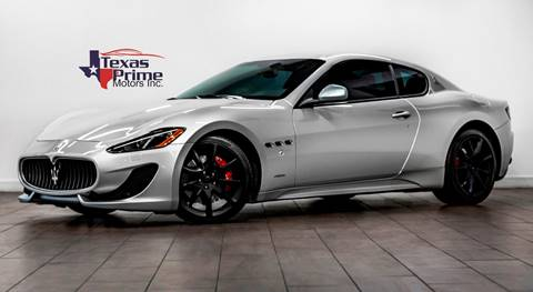 2013 Maserati GranTurismo for sale at Texas Prime Motors in Houston TX