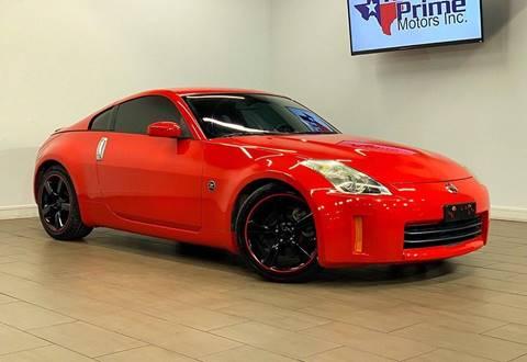 2008 Nissan 350Z for sale at Texas Prime Motors in Houston TX