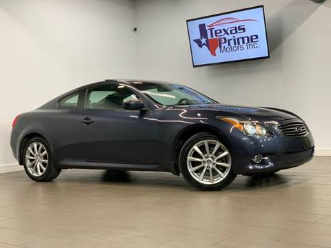 2011 Infiniti G37 Coupe for sale at Texas Prime Motors in Houston TX