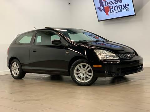 2002 Honda Civic for sale at Texas Prime Motors in Houston TX