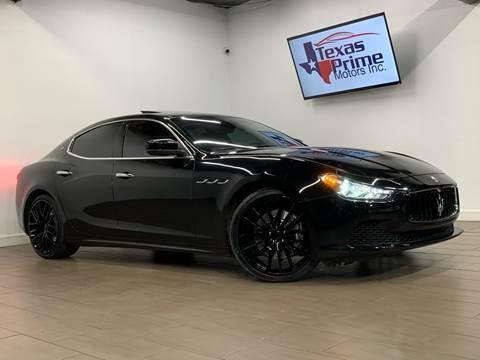 2017 Maserati Ghibli for sale at Texas Prime Motors in Houston TX