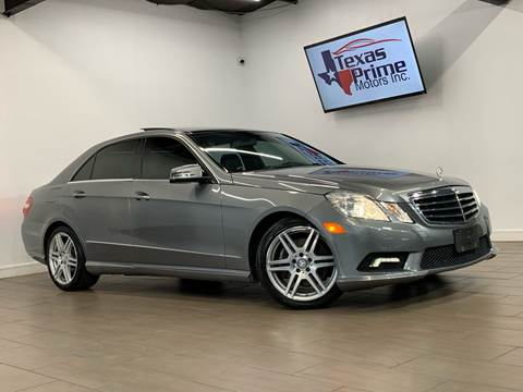 2011 Mercedes-Benz E-Class for sale at Texas Prime Motors in Houston TX