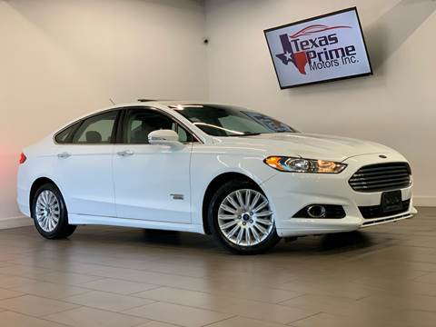 2014 Ford Fusion Energi for sale at Texas Prime Motors in Houston TX