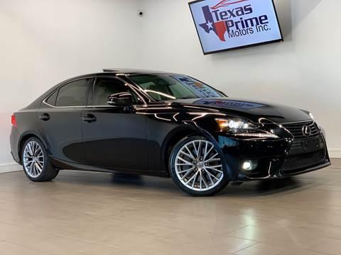 2016 Lexus IS 200t for sale at Texas Prime Motors in Houston TX