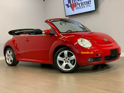 2006 Volkswagen New Beetle Convertible for sale at Texas Prime Motors in Houston TX