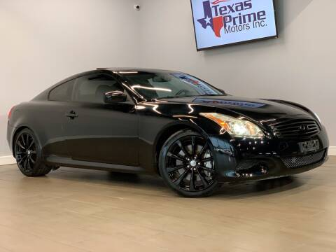 2009 Infiniti G37 Coupe for sale at Texas Prime Motors in Houston TX