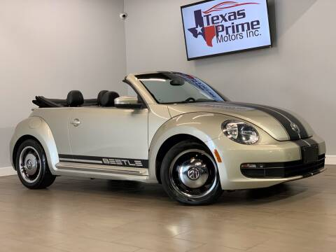 2012 Volkswagen Beetle Convertible for sale at Texas Prime Motors in Houston TX