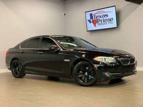 2013 BMW 5 Series for sale at Texas Prime Motors in Houston TX