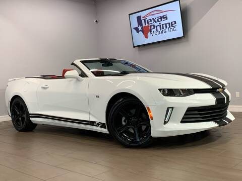 2018 Chevrolet Camaro for sale at Texas Prime Motors in Houston TX