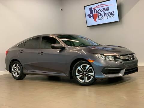 2017 Honda Civic for sale at Texas Prime Motors in Houston TX