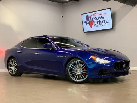 2014 Maserati Ghibli for sale at Texas Prime Motors in Houston TX