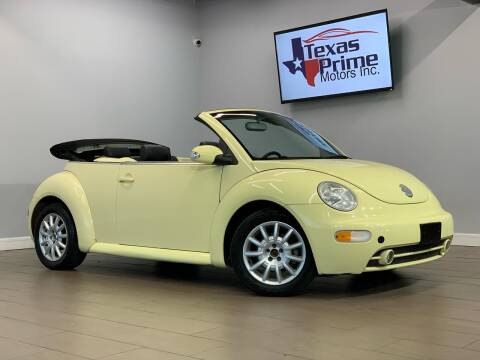 2005 Volkswagen New Beetle Convertible for sale at Texas Prime Motors in Houston TX