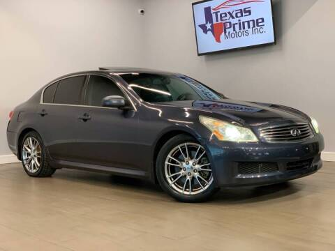 2007 Infiniti G35 for sale at Texas Prime Motors in Houston TX