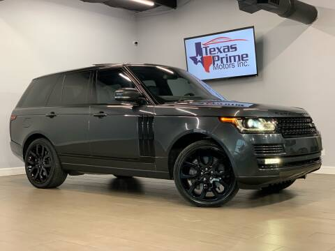 2016 Land Rover Range Rover for sale at Texas Prime Motors in Houston TX