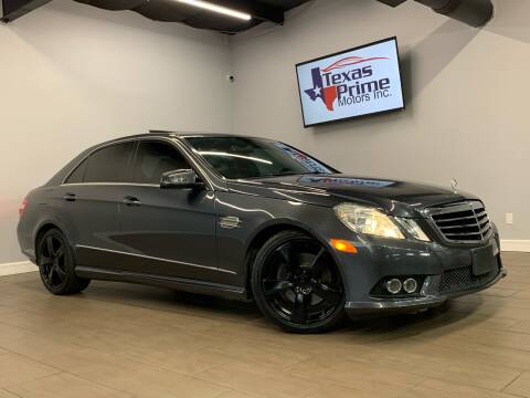 2010 Mercedes-Benz E-Class for sale at Texas Prime Motors in Houston TX