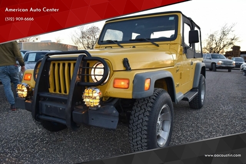 Jeep Wrangler For Sale Austin >> Jeep Wrangler For Sale In Austin Tx American Auto Center