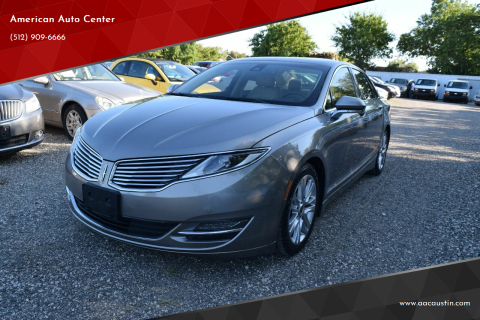 2015 Lincoln MKZ Hybrid for sale at American Auto Center in Austin TX