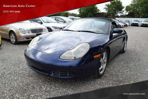 2001 Porsche Boxster for sale at American Auto Center in Austin TX