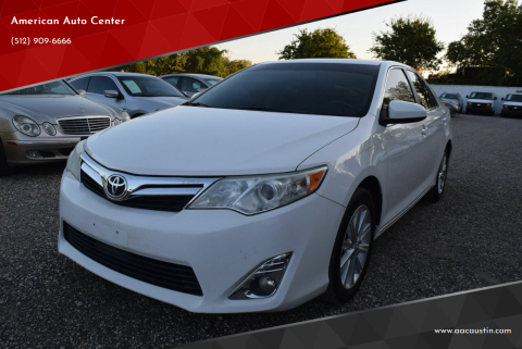2012 Toyota Camry for sale at American Auto Center in Austin TX