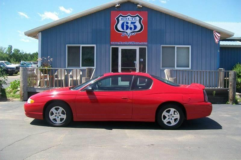 2005 Chevrolet Monte Carlo For Sale At Route 65 Sales In Mora MN
