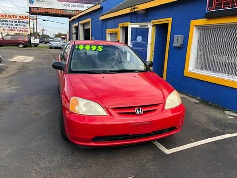 2001 Honda Civic for sale in Richmond, VA
