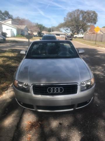 2004 Audi A4 for sale at Out Run Automotive Sales and Service Inc in Tampa FL