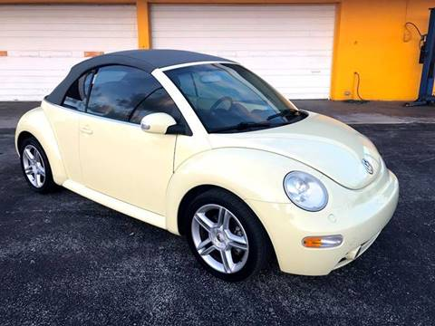 2004 Volkswagen New Beetle for sale at Out Run Automotive Sales and Service Inc in Tampa FL
