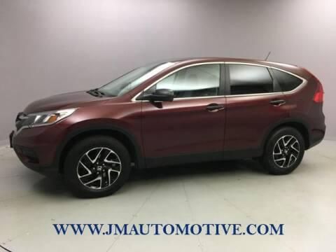 2016 Honda CR-V for sale at J & M Automotive in Naugatuck CT