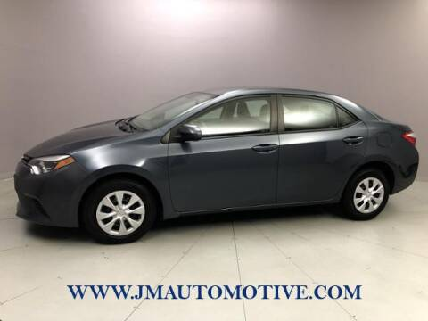 2015 Toyota Corolla for sale at J & M Automotive in Naugatuck CT